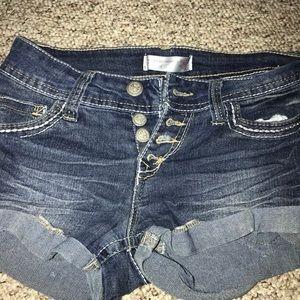 High wasted girls shorts